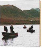 Fishing For Salmon - Karluck River - Kodiak Island Alaska Wood Print