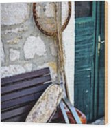 Fishing Gear In Primosten, Croatia Wood Print