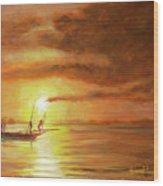 Fishing In Zanzibar Wood Print