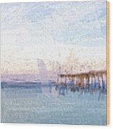 Fishing In Venice, Florida II Wood Print