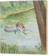 Fishing Lake Tanko Wood Print
