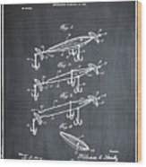 Fishing Lure Patent 1904 Chalk Wood Print