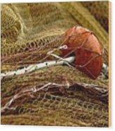Fishing Net Wood Print