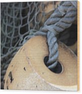 Fishing Net Wood Print