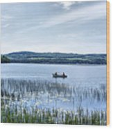 Fishing On Lake Carmi Wood Print