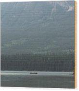 Fishing On Pyramid Lake Wood Print