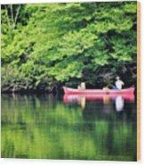 Fishing On Shady Wood Print