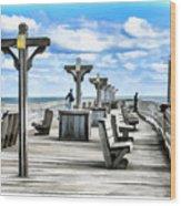 Fishing Pier 13 Wood Print