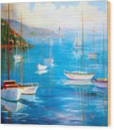 Fishing Port Wood Print