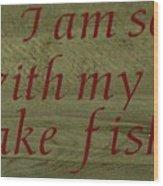 Fishing Rod Wood Print