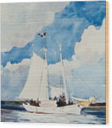 Fishing Schooner In Nassau Wood Print