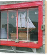 Fishing Shack Window 5998 Wood Print
