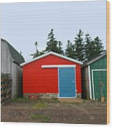 Fishing Shacks  Prince Edward Island  Canada Wood Print