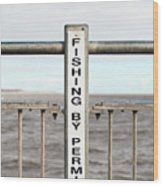 Fishing Sign Wood Print