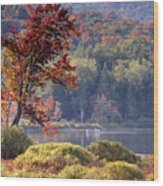 Fishing The Adirondacks Wood Print
