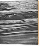 Fishing The Surf Wood Print
