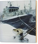 Fishing Trawler, Howth Harbour, Co Wood Print