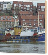 Fishing Trawler - Whitby Wood Print