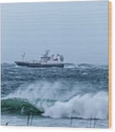 Fishing Vessel Wood Print