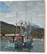 Fishing Vessel Chinak Wood Print