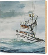 Fishing Vessel Devotion Wood Print
