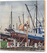 Fishing Vessel Ranger Drydock Wood Print