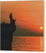 Morning Fishing 2 Wood Print