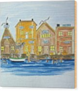 Fishing Village 2 Wood Print