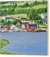 Fishing Village In Prince Edward Island Wood Print