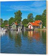 Fishing Village Of Vaxholm Sweden Wood Print