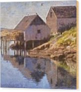 Fishing Wharf Wood Print