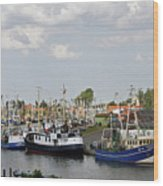 Fishingport Buesum Wood Print