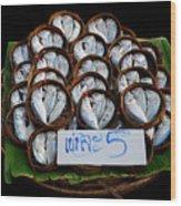 Fishs In Three  Wood Print