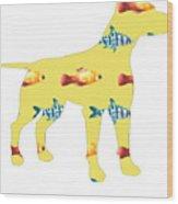 Fishy Dog Wood Print