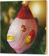 Fishy Ornament Wood Print by Jera Sky