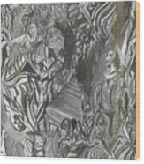 Fist Doodle Wood Print