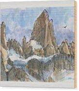 Fitz Roy, Patagonia Wood Print