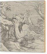 Five Battling Tritons Wood Print