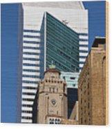 Five Building New York  Wood Print