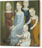 Five Children Of The Budd Family Wood Print