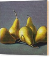 Five Golden Pears Wood Print