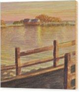 Five Islands Sunset Wood Print