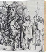 Five Lansquenets And An Oriental On Horseback 1495 Wood Print