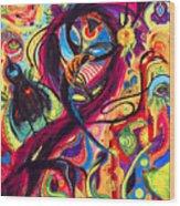 Raven Masquerade Wood Print