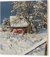 Five Mile Winter's Barn #9862 Wood Print