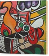 Five O' Clock With Picasso Wood Print