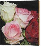 Five Roses Wood Print