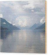 Fjord Near Hardanger Norway Wood Print