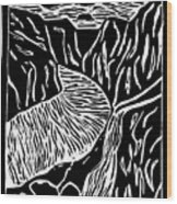 Fjord Norway - Limited Edition Linocut Print Wood Print