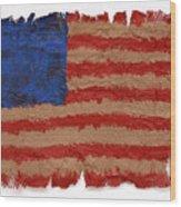 Flag 2 Wood Print